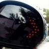 Spejlblinklys LED - rød, sæt af 2 stk.
