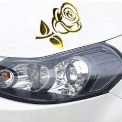 Carsticker - Rose, Guld