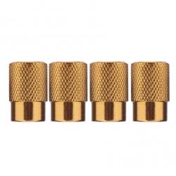 Ventilhætter, guldorange aluminium, 4 stk.