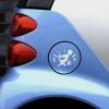 Carsticker - Benzinslugeren - sølvhvid