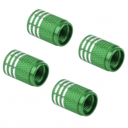 Ventilhætter, grønne aluminium, 4 stk.