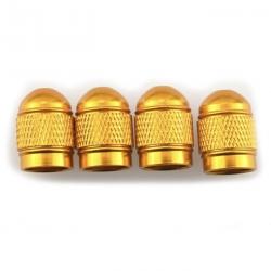 Ventilhætter, guldfarvede aluminium, 4 stk.